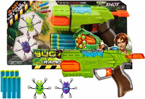 Zuru 4801 Bug Attack Rapid Fire Soft Dart Blaster Gun Kids Children Toy Gift